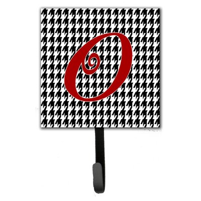 Monogram Houndstooth Wall Hook Letter: O