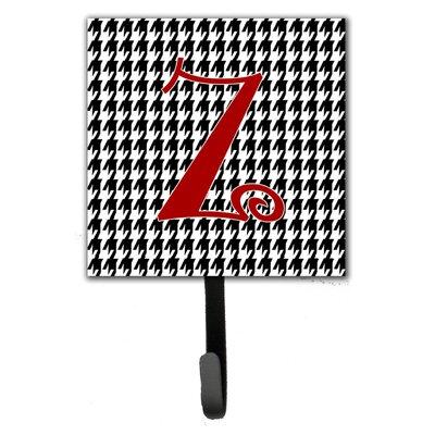 Monogram Houndstooth Wall Hook Letter: Z
