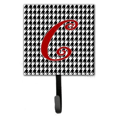 Monogram Houndstooth Wall Hook Letter: C