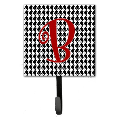 Monogram Houndstooth Wall Hook Letter: B