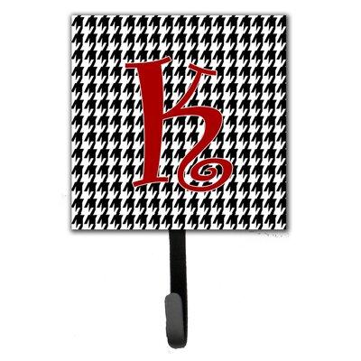 Monogram Houndstooth Wall Hook Letter: K