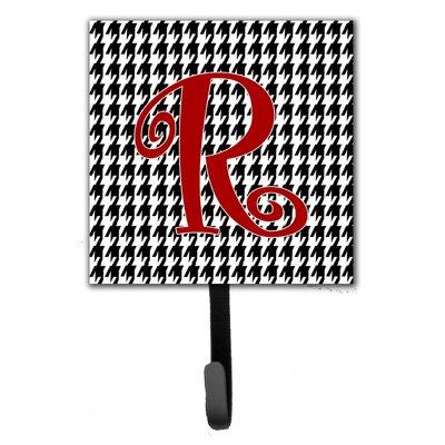 Monogram Houndstooth Wall Hook Letter: R