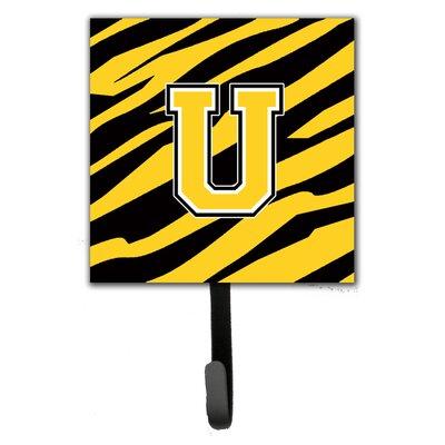 Monogram Tiger Stripe Wall Hook Letter: U