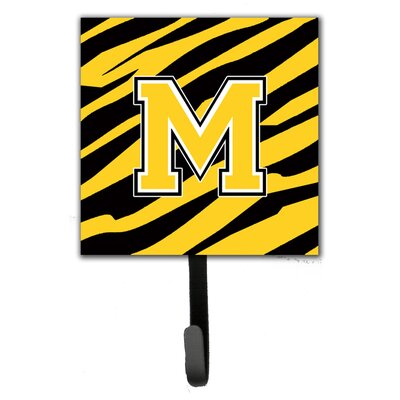 Monogram Tiger Stripe Wall Hook Letter: M