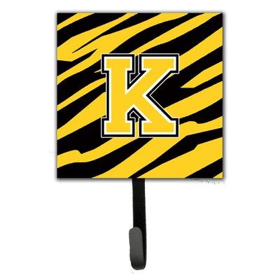 Monogram Tiger Stripe Wall Hook Letter: K