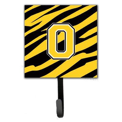 Monogram Tiger Stripe Wall Hook Letter: O