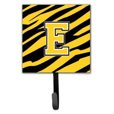 Monogram Tiger Stripe Wall Hook Letter: E