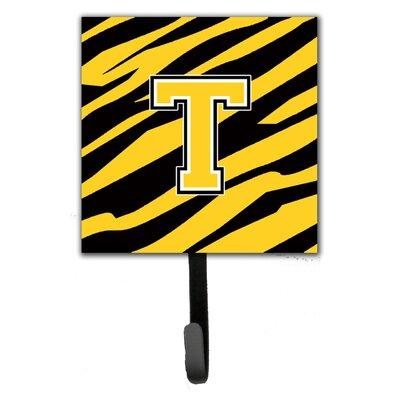 Monogram Tiger Stripe Wall Hook Letter: T