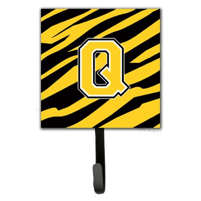Monogram Tiger Stripe Wall Hook Letter: Q