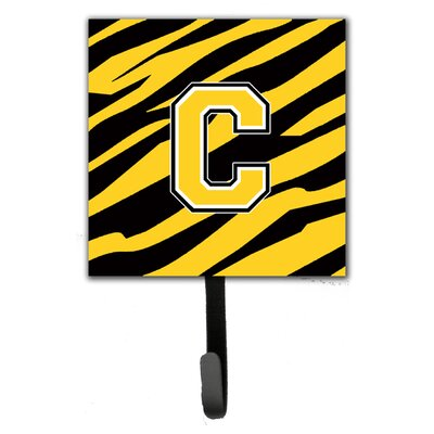 Monogram Tiger Stripe Wall Hook Letter: C