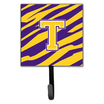 Tiger Stripe Wall Hook Letter: T