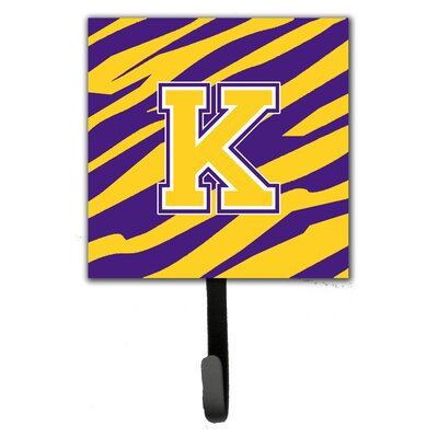Tiger Stripe Wall Hook Letter: K
