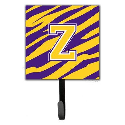 Tiger Stripe Wall Hook Letter: Z