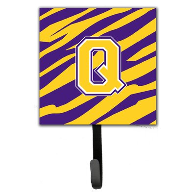 Tiger Stripe Wall Hook Letter: Q