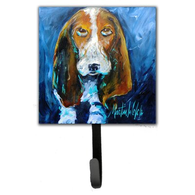 Basset Hound You Talking Bout Me Leash Holder and Wall Hook