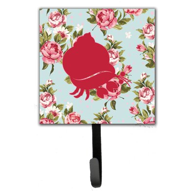 Hermit Crab Shabby Elegance Roses Leash Holder and Wall Hook