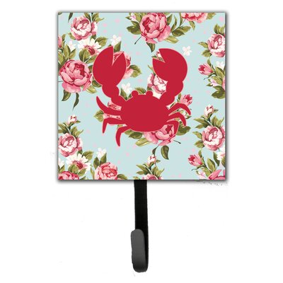 Crab Shabby Elegance Roses Leash Holder and Wall Hook