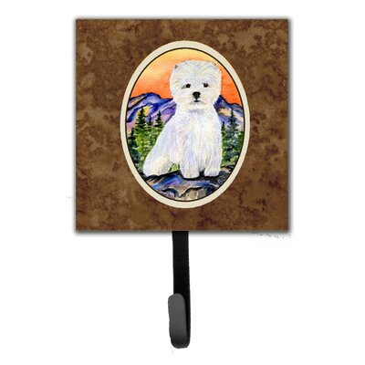 Westie Leash Holder and Wall Hook