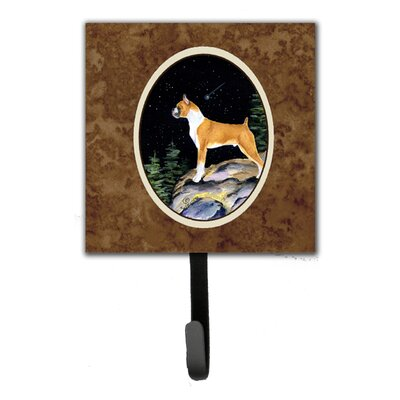 Starry Night Boxer Leash Holder and Wall Hook