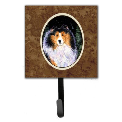 Starry Night Collie Leash Holder and Wall Hook