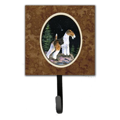Starry Night Fox Terrier Leash Holder and Wall Hook