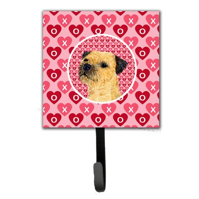 Border Terrier Valentine's Love and Hearts Leash Holder and Wall Hook