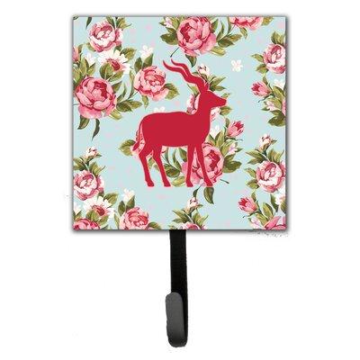 Deer Shabby Elegance Roses Wall Hook