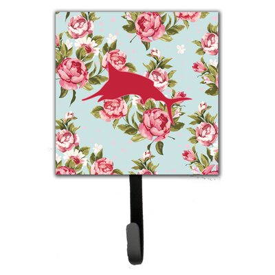 Marlin Shabby Elegance Roses Fish Wall Hook