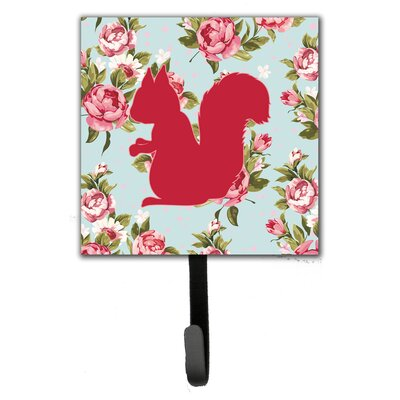 Squirrel Shabby Elegance Roses Wall Hook