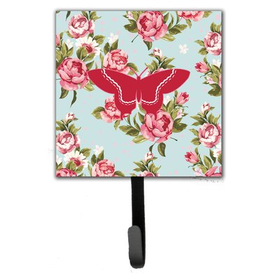 Butterfly Shabby Elegance Roses Wall Hook