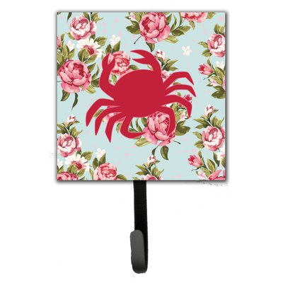 Crab Shabby Elegance Roses Wall Hook