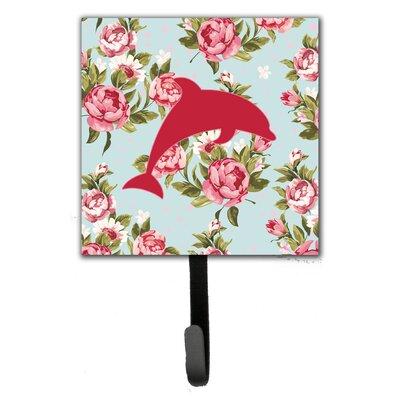 Dolphin Shabby Elegance Roses Wall Hook