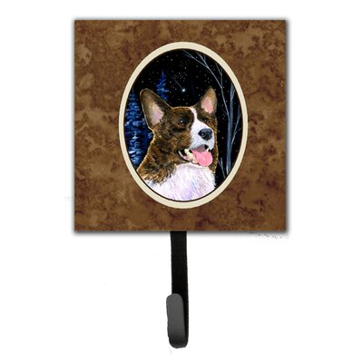 Starry Night Corgi Leash Holder and Wall Hook