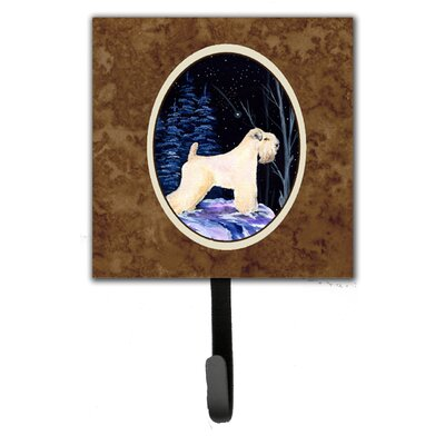 Starry Night Wheaten Terrier Soft Coated Leash Holder and Wall Hook