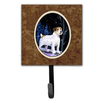Starry Night Jack Russell Terrier Leash Holder and Wall Hook