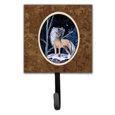 Starry Night Chinese Crested Leash Holder and Wall Hook
