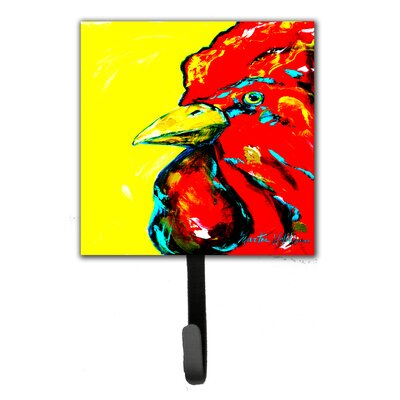 Rooster Big Head Leash Holder and Wall Hook
