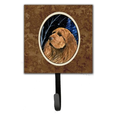 Starry Night Sussex Spaniel Leash Holder and Wall Hook