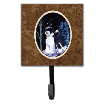Starry Night Portuguese Water Dog Leash Holder and Wall Hook