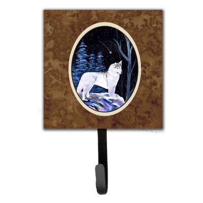 Starry Night Siberian Husky Leash Holder and Wall Hook