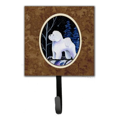 Starry Night Bichon Frise Leash Holder and Wall Hook