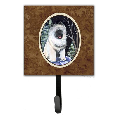 Starry Night Keeshond Leash Holder and Wall Hook