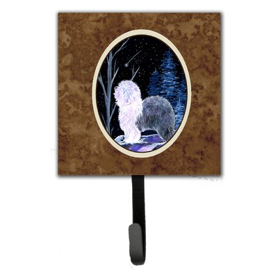 Starry Night Old English Sheepdog Leash Holder and Wall Hook