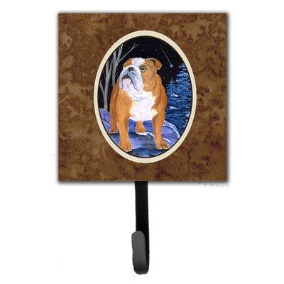 Starry Night English Bulldog Leash Holder and Wall Hook
