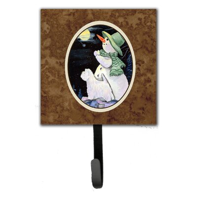 Snowman with Westie Leash Holder and Wall Hook