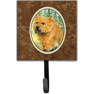 Norwich Terrier Leash Holder and Wall Hook