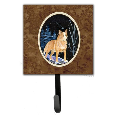 Starry Night Australian Cattle Dog Leash Holder and Wall Hook