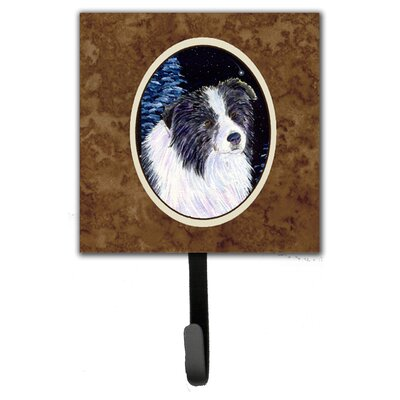 Starry Night Border Collie Leash Holder and Wall Hook