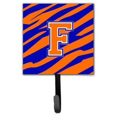 Monogram Tiger Stripe Leash Holder and Wall Hook Letter: F
