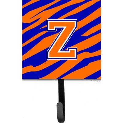 Monogram Tiger Stripe Leash Holder and Wall Hook Letter: Z
